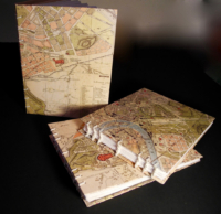 Handmade coptic-stitched travel sketchbooks