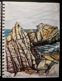 Sketchbook page, Pacific Grove