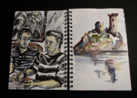 Sketchbook page, France
