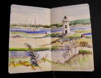 Sketchbook page, Edgartown Harbor