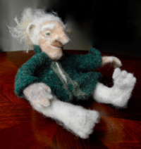 Hand-felted old man