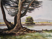 Watercolor, San Leandro waterfront